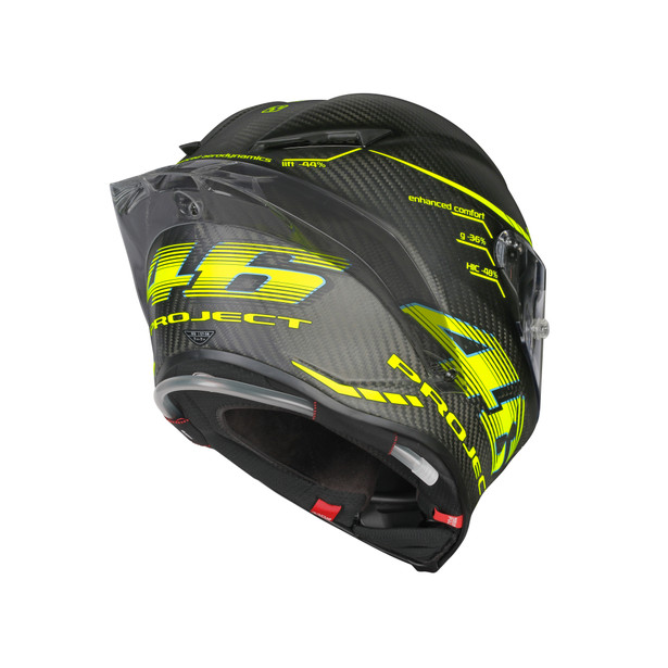 PISTA GP R TOP ECE DOT PLK - PROJECT 46 2.0 MATT CARBON - undefined