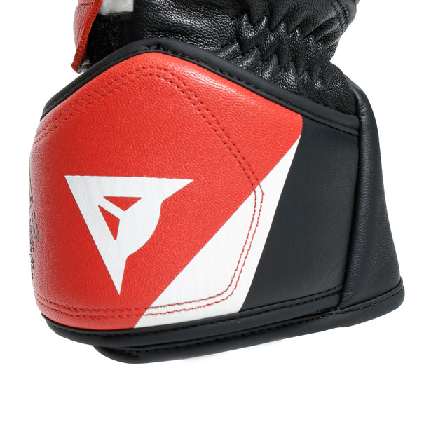 DRUID 3 GLOVES BLACK/WHITE/LAVA-RED- Pelle