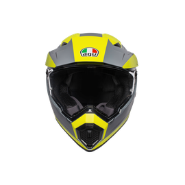 AX9 MULTI E2205 - PACIFIC ROAD MATT GREY/YELLOW FLUO/BLACK - Full-face