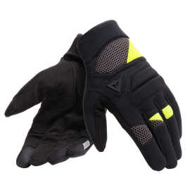 FOGAL UNISEX GLOVES BLACK/FLUO-YELLOW- Tissus