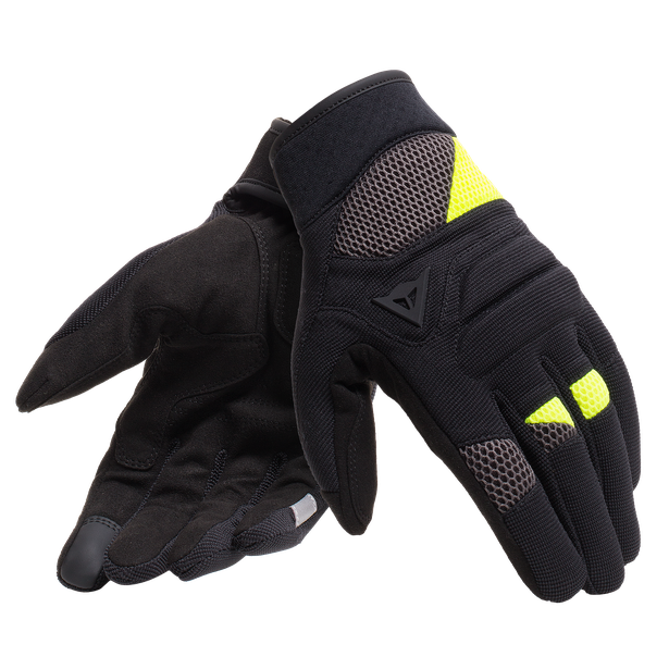 FOGAL UNISEX GLOVES BLACK/FLUO-YELLOW- Textil