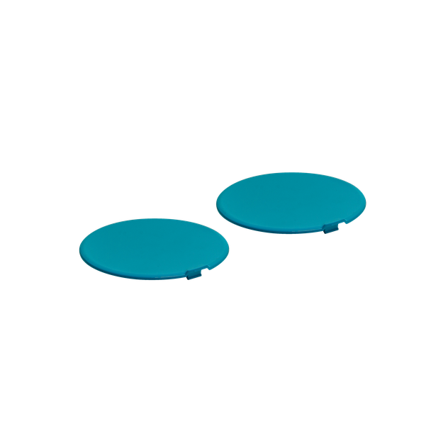 PAINTED SCREW COVERS ORBYT - CYAN GLOSSY - Accessories