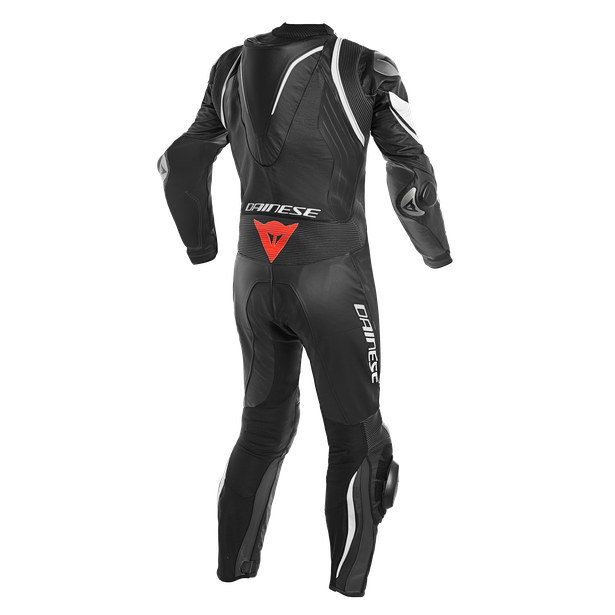 KYALAMI  1PC PERF. LEATHER SUIT BLACK/WHITE/WHITE- Sonderangebote Lederkombi