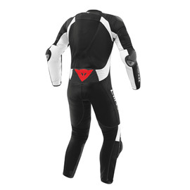 Misano D-air® Perforated suit BLACK/BLACK/WHITE- Motorrad
