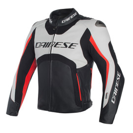 Misano D-air® jacket WHITE/BLACK/RED-FLUO