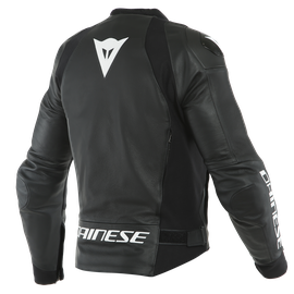 SPORT PRO LEATHER JACKET PERF. BLACK/WHITE- Pelle