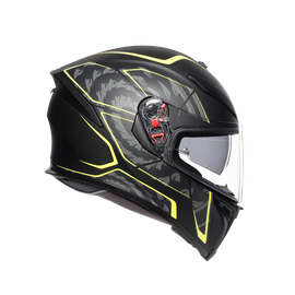 K5 S MULTI ECE DOT - TORNADO MATT BLACK/YELLOW FLUO - undefined