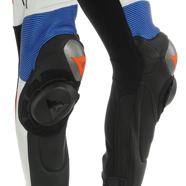 MISANO 2 D-AIR PERF. 1PC SUIT BLACK-MATT/WHITE/LIGHT-BLUE- Einteiler