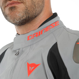 INDOMITA D-DRY XT JACKET FROST-GRAY/BLACK-MATT/FLUO-RED- D-Dry®