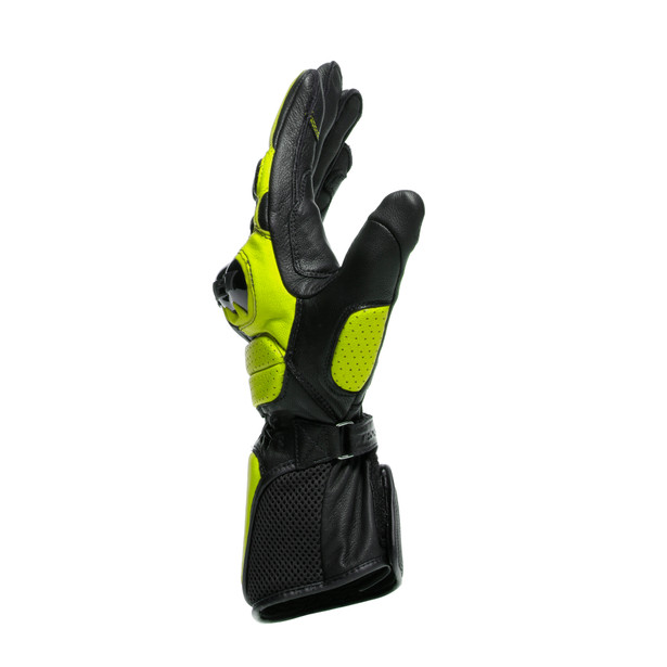 IMPETO GLOVES BLACK/FLUO-YELLOW- Cuir