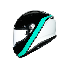 K6 E2205 MULTI - MINIMAL BLACK/PEARL WHITE/AQUA - Full-face