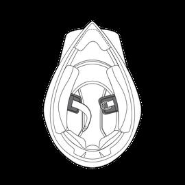 AGV CHIN STRAP PADS AX9 (ML-L-XL-XXL-XXXL)