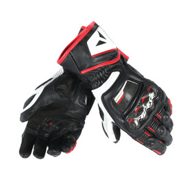 DRUID D1 LONG GLOVES BLACK/WHITE/LAVA-RED- Leder