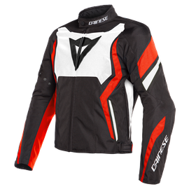 EDGE TEX JACKET BLACK/WHITE/FLUO-RED- Textil