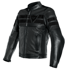 8-TRACK PERF. LEATHER JACKET BLACK/BLACK/BLACK
