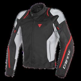 AIR MASTER TEX JACKET BLACK/GLACIER-GRAY/FLUO-RED- Textil