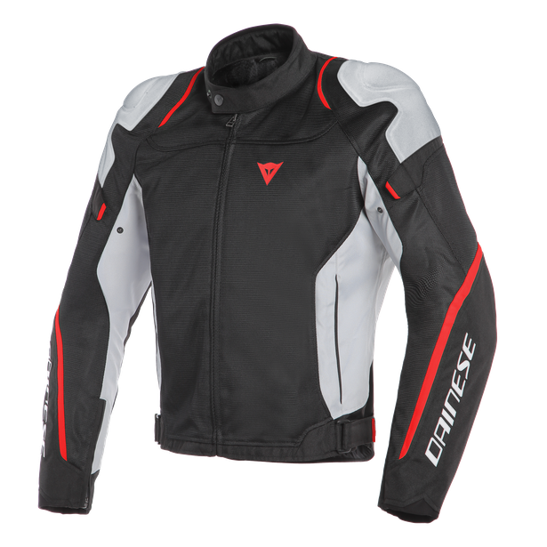 AIR MASTER TEX JACKET BLACK/GLACIER-GRAY/FLUO-RED- Textile