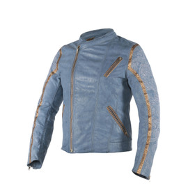 GONG YUN LEATHER JACKET DRAGON/QUING-BLUE/NOBLE-YELLOW- undefined