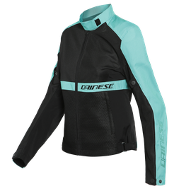 RIBELLE AIR LADY TEX JACKET BLACK/ACQUA-GREEN