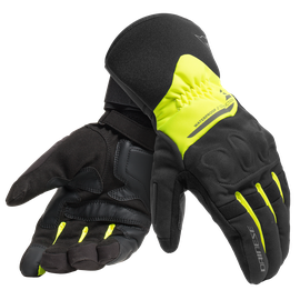 X-TOURER D-DRY GLOVES BLACK/FLUO-YELLOW