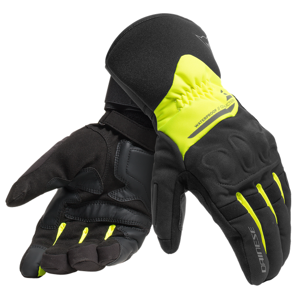 X-TOURER D-DRY GLOVES BLACK/FLUO-YELLOW- D-Dry®