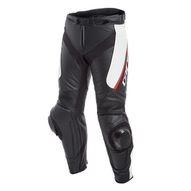 DELTA 3 LEATHER PANTS BLACK/WHITE/RED