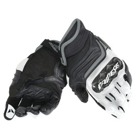 CARBON D1 SHORT GLOVES BLACK/WHITE/ANTHRACITE- Leder