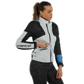 AIR TOURER LADY TEX JACKET GLACIER-GRAY/PERFORMANCE-BLUE/BLACK- Textile