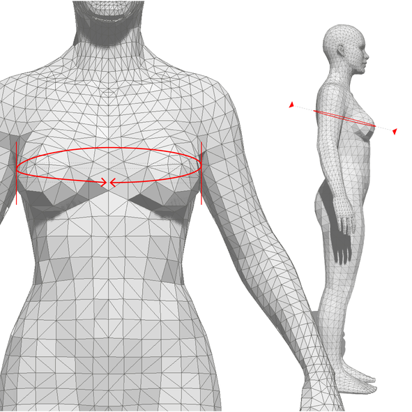 how to measure: breast