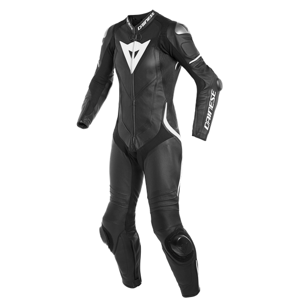 LAGUNA SECA 4 1PC PERF. LADY LEATHER SUIT BLACK/BLACK/WHITE- Einteiler