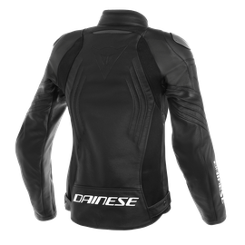 RACING 3 PERF. LADY LEATHER JACKET BLACK/BLACK/BLACK- Leather