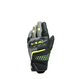 CARBON 3 SHORT GLOVES BLACK/CHARCOAL-GRAY/FLUO-YELLOW