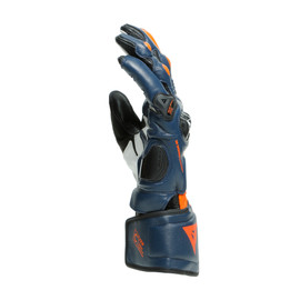 CARBON 3 LONG GLOVES BLACK-IRIS/FLAME-ORANGE/FLUO-RED- Leder