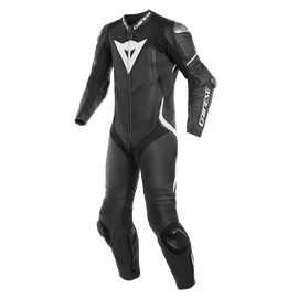 LAGUNA SECA 4 1PC LEATHER SUIT BLACK/BLACK/WHITE