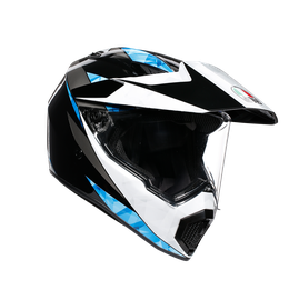 AX9 MULTI ECE DOT - NORTH BLACK/WHITE/CYAN - AX9