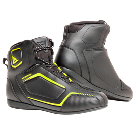RAPTORS D-WP SHOES BLACK/BLACK/FLUO-YELLOW- Leder