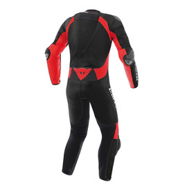 Misano D-air® Perforated suit BLACK/BLACK/FLUO-RED- Moto