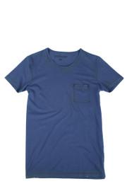 POCKET T-SHIRT BLUE-NAVY