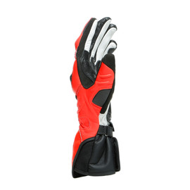 CARBON 3 LONG GLOVES BLACK/FLUO-RED/WHITE- Pelle
