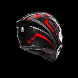 K5 S E2205 MULTI - HURRICANE 2.0 BLACK/RED - Full-face
