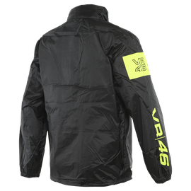 VR46 RAIN JACKET BLACK/FLUO-YELLOW- VR46