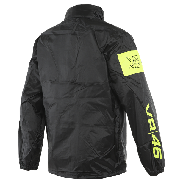 VR46 RAIN JACKET BLACK/FLUO-YELLOW- undefined