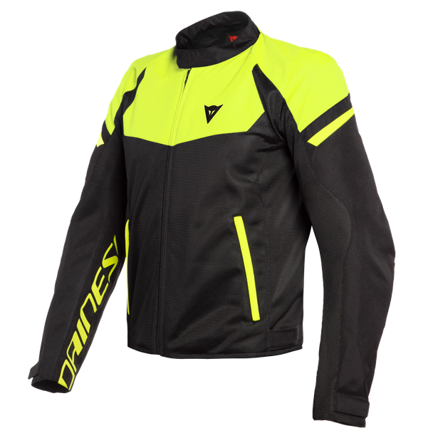 BORA AIR TEX JACKET BLACK/FLUO-YELLOW- Textile
