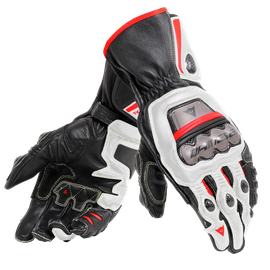 FULL METAL 6  GLOVES BLACK/WHITE/LAVA-RED- Pelle