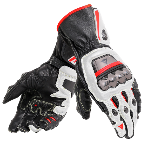 FULL METAL 6 GLOVES BLACK/WHITE/LAVA-RED- Cuir