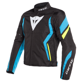 EDGE TEX JACKET BLACK-MATT/FIRE-BLUE/FLUO-YELLOW- Textil
