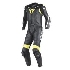 LAGUNA SECA D1 2PCS SUIT BLACK/BLACK/FLUO-YELLOW- Two Piece Suits