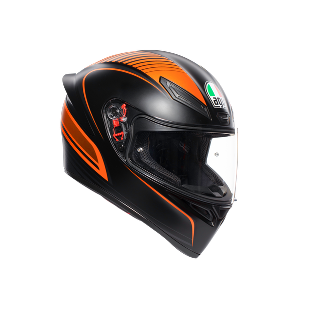 K1 MULTI ECE2205 - WARMUP MATT BLACK/ORANGE - Full-face