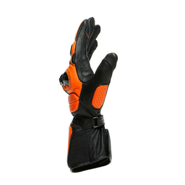 IMPETO GLOVES BLACK/FLAME-ORANGE- Leder
