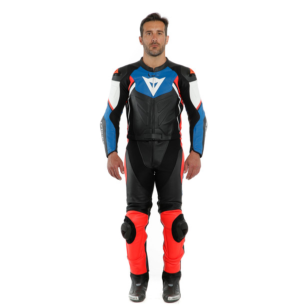 AVRO D2 2 PCS SUIT BLACK/LIGHT-BLUE/FLUO-RED- Two Piece Suits